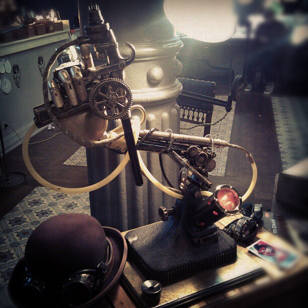 Dr. Grymm's Tattoo Gun at NY Ink. #steampunkgun #steampunkart #steampunk #tattoo #ink #nyink #woosterstsocialclub