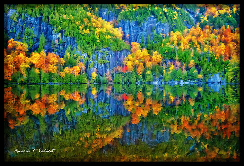 travel autumn trees vacation ny newyork reflection nature water forest canon photography rocks adirondacks foliage upstatenewyork canonef1635mmf28liiusm chapelpond canoneos5dmarkii wideangleautumninnewyork