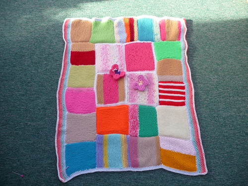 Thanks to everyone who contributed Squares for this Blanket. Thanks Ginnyknit for assembling.