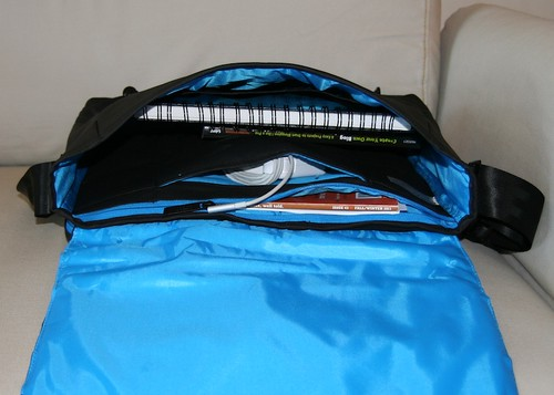 Messenger Bag - Coated Canvas Cyan Series by Altego