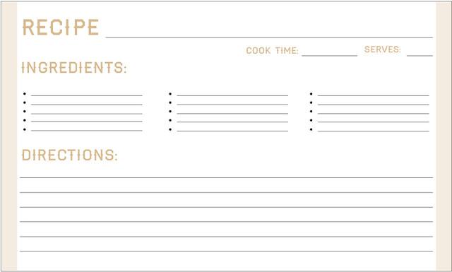 printable recipe card template .