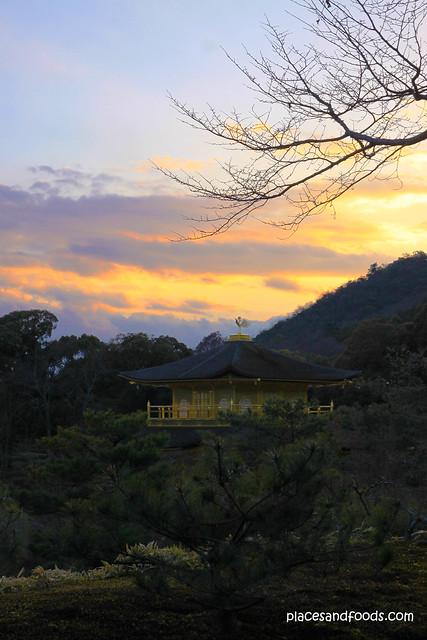 Kinkaku-ji 金閣寺 Golden Pavilion sunset