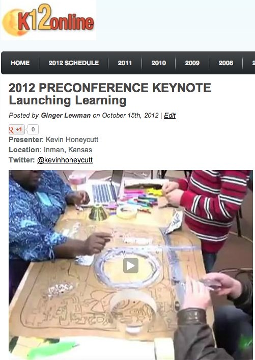 K12 Online Conference 2012 - Launching Learning