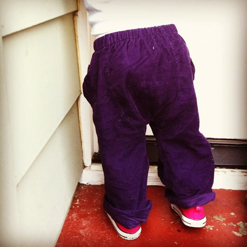 Big butt baby pants with puppet show pockets