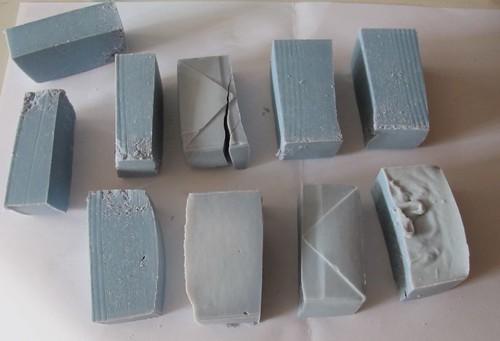 2012作品之一:青 木瓜 紫草皂~有美麗的土耳其藍,但 ...