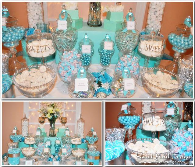 The Tiffany Blue Theme Wedding Ideas: Tiffany Blue Theme Wedding Candy & Dessert Buffet