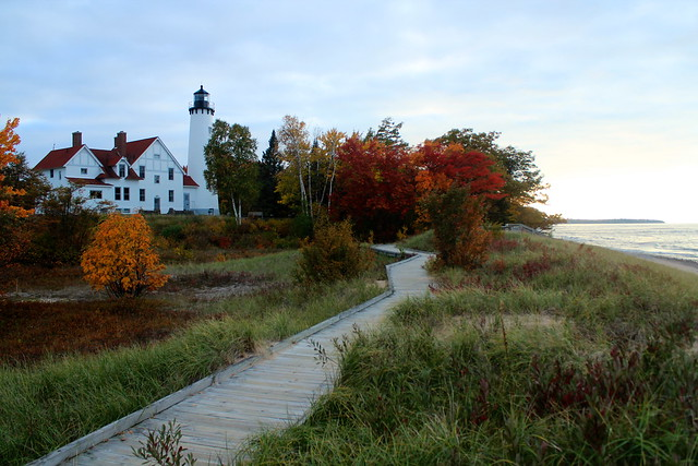 Point Iroquois Lighthouse at Dusk