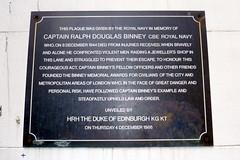 Photo of Ralph Douglas Binney black plaque