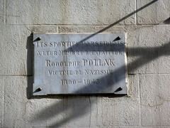 Photo of Rodolphe Pollak marble plaque