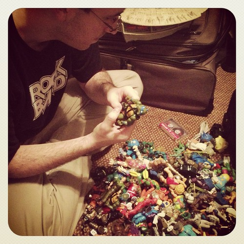 my husband and his action figures by ceck0face