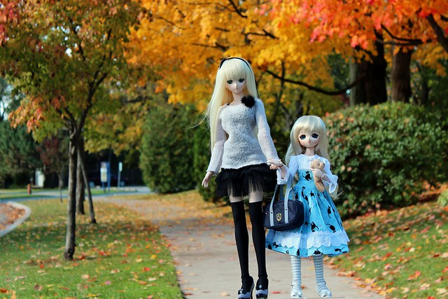 Lily and Médée Out for a Stroll