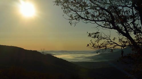 trees sky sun sunlight mountains fog sunrise virginia nikon va blueridgeparkway brp d5100 nikond5100