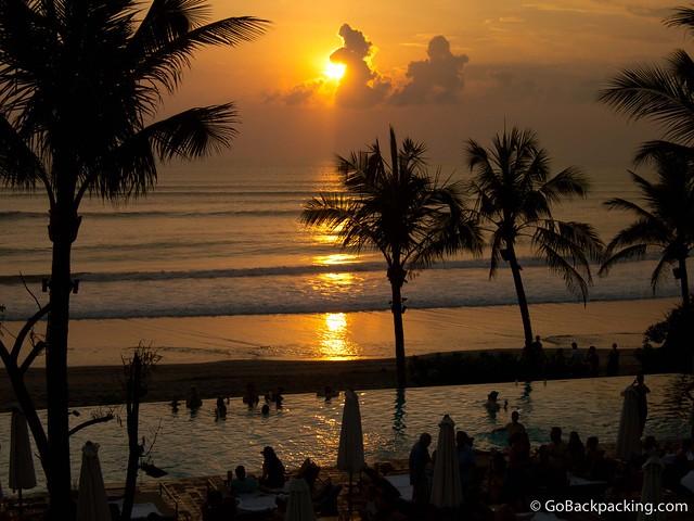 Sunset as seen from Potato Head Beach Club