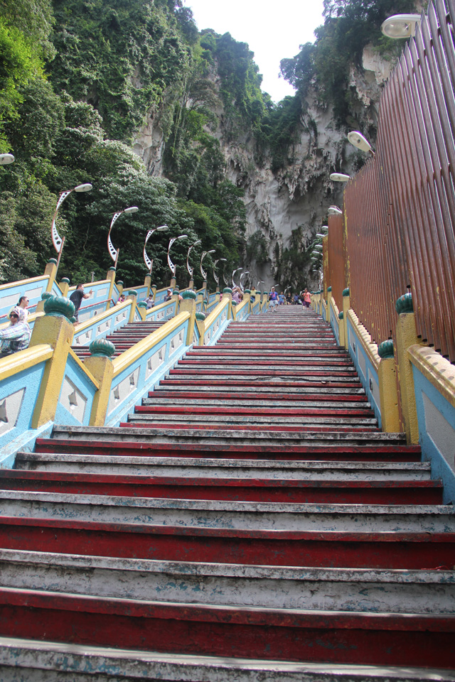 Climbing the steps to the top