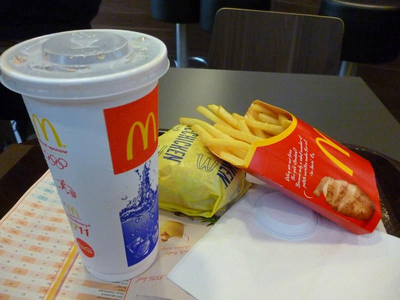 Thai McDonald's at the airport