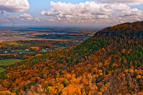 autumn mountain fall colors beautiful yellow clouds landscape scenery scenic foliage pines valley ndfilter albanycounty helderbergescarpment thatcherspark helderbergs nikond300 mygearandme ringexcellence helderbergledge