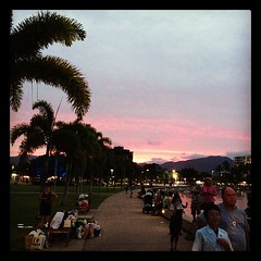 Sunset over Cairns