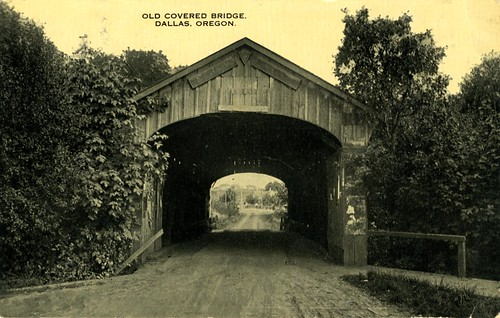 Old Covered Bridge in Dallas, Oregon