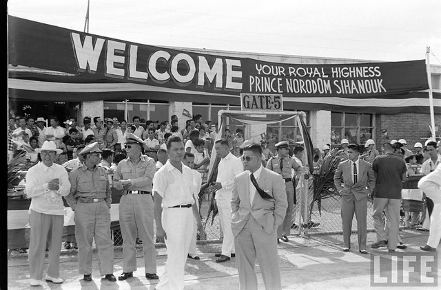 Prime Minister Norodom Sihanouk of Cambodia visits the Philippines. Feb 1956