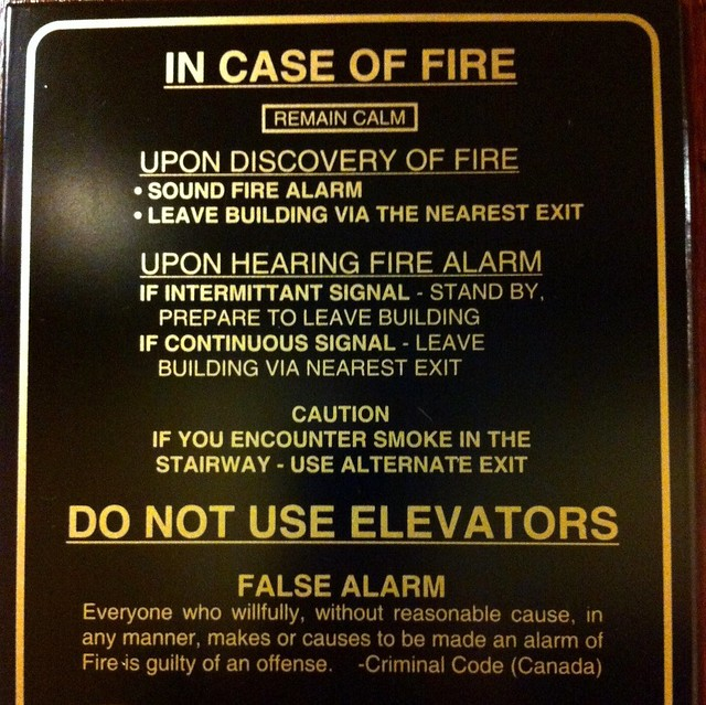 weirdly worded fire notice