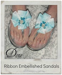 how to make Ribbon Detail Sandals