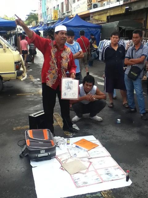 亚庇街头市场