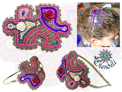 Diadema en embroidery by **Elendili**