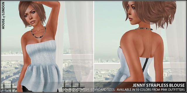 ad - jenny strapless blouse