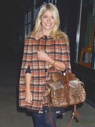 Holly Willoughby Cape Coat Celebrity Style Women's Fashion