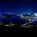 Le lac des Nations (Sherbrooke) de nuit