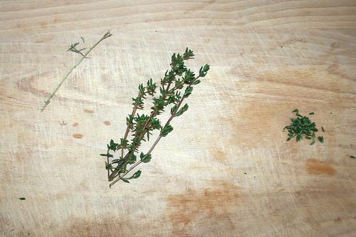 16 - Blättchen abzupfen / Pick leafes