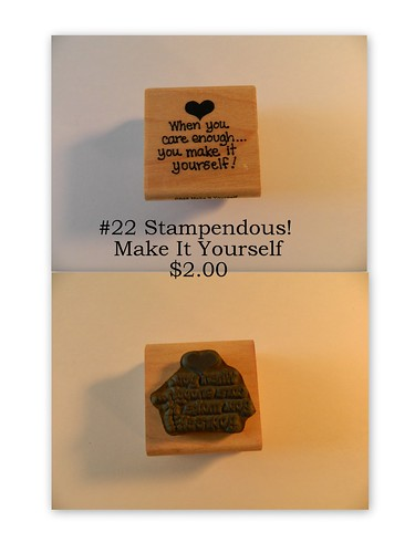 #22 Stampendous Make It Yourself $2.00