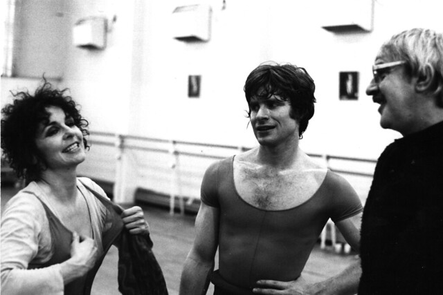 Lynn Seymour and David Wall in rehearsals with Kenneth MacMillan for Mayerling. © Roy Round 1978