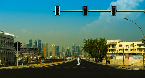 Downtown Doha.