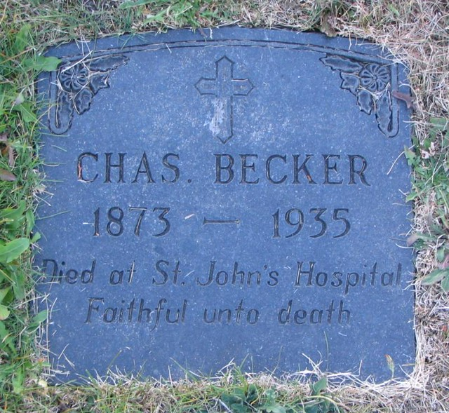 Chas Becker Headstone