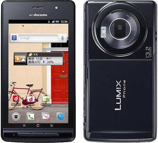 LUMIX Phone P-02D 実物大の製品画像