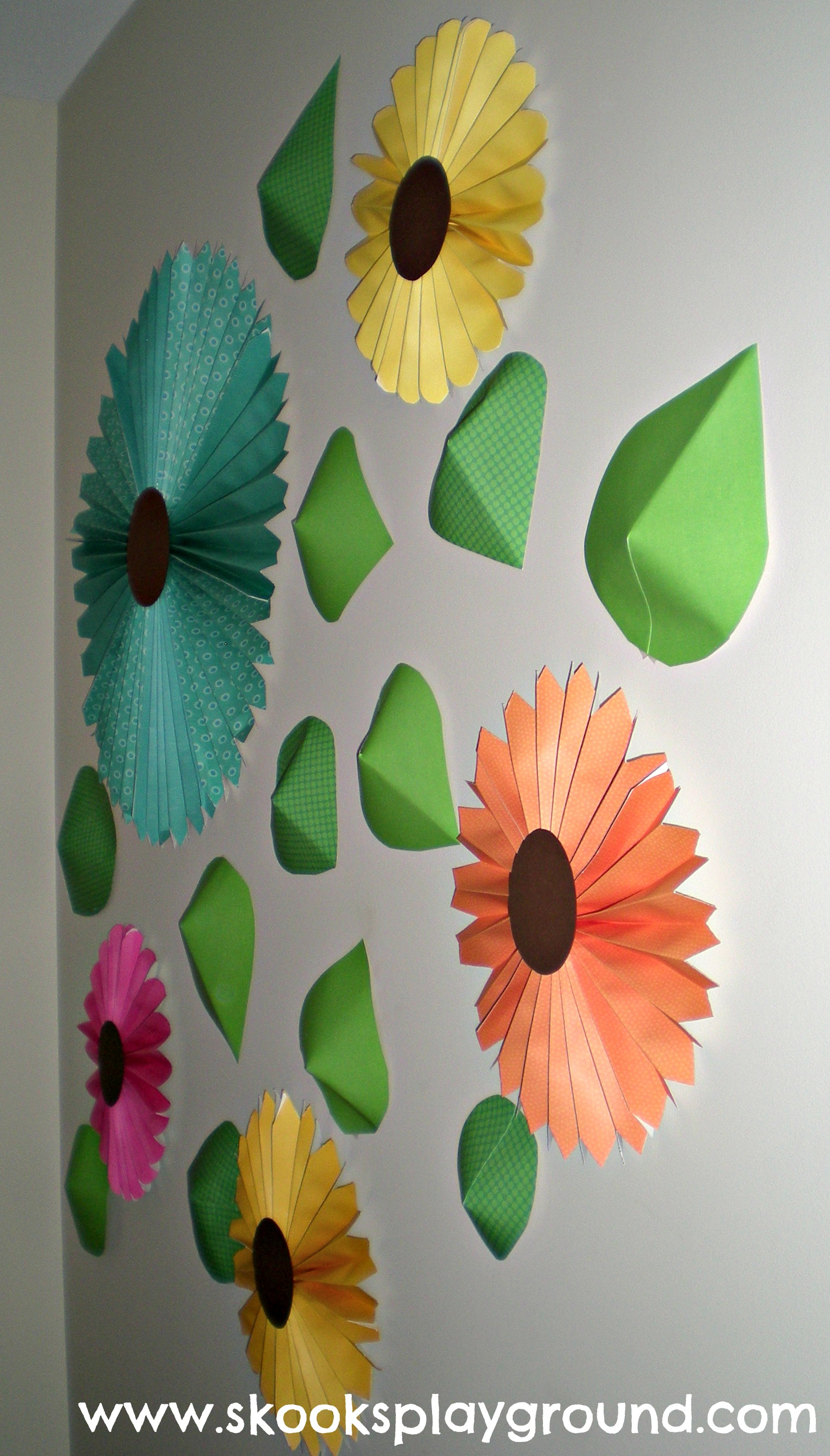 Accordian Wall Flowers - Side View