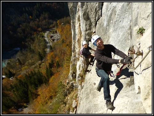 Autumn via ferrata
