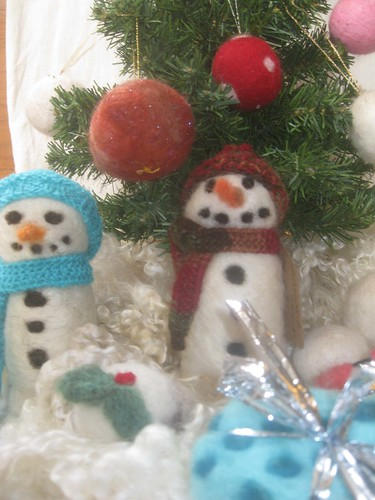 Needlefelt decorations