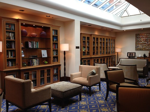 The library at the Heathman hotel, Portland