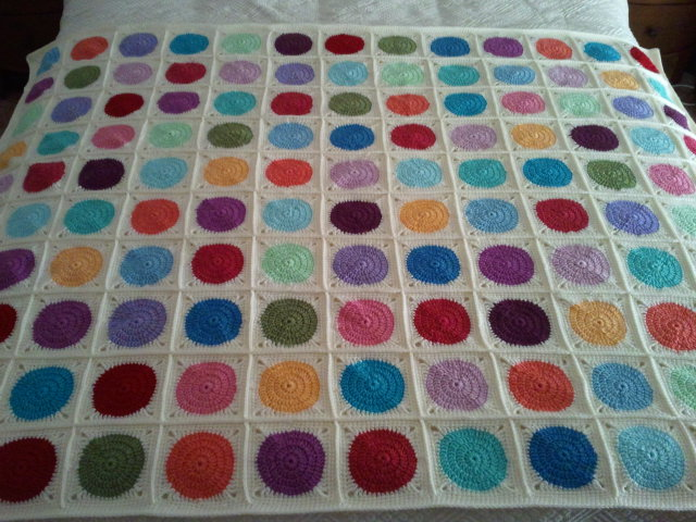 Crochet Circle in a Square Afghan / Blanket - (Explored) Flickr ...