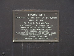 Plaque on Steam Locomotive