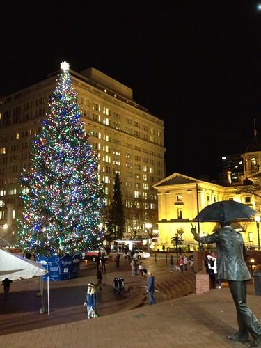 Christmas in Pioneer Square, Portland, Oregon