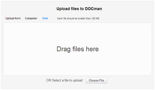DOCman 2 Beta - File upload dialog
