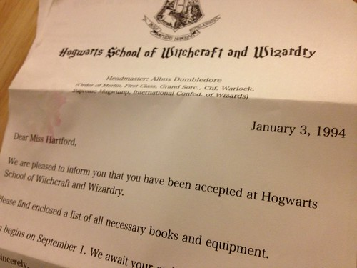 Birthday Letter from Hogwards