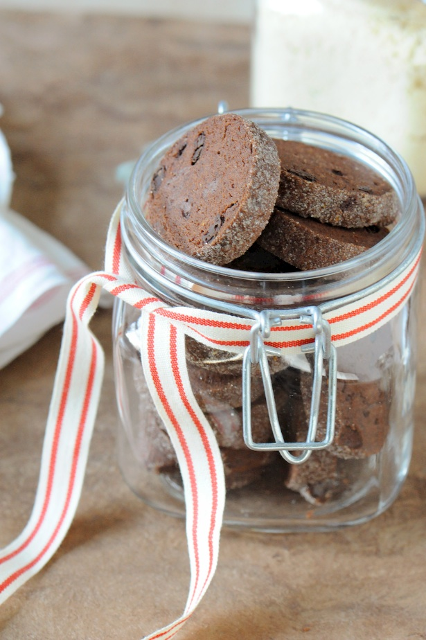 chocolate shortbread cookie jar