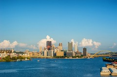 The West End Bridge's view of the Pittsburgh skyline HDR