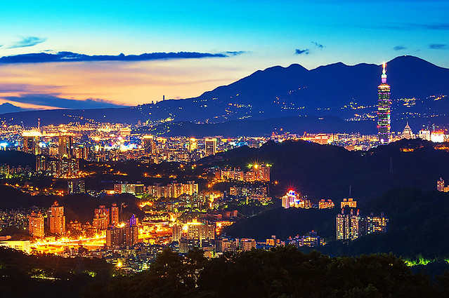 貓空景色 - View of Taipei from Maokong