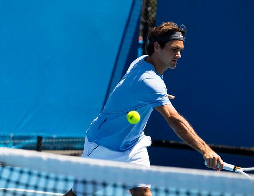 Roger Federer Day 2 Practice - Australian Open 2013