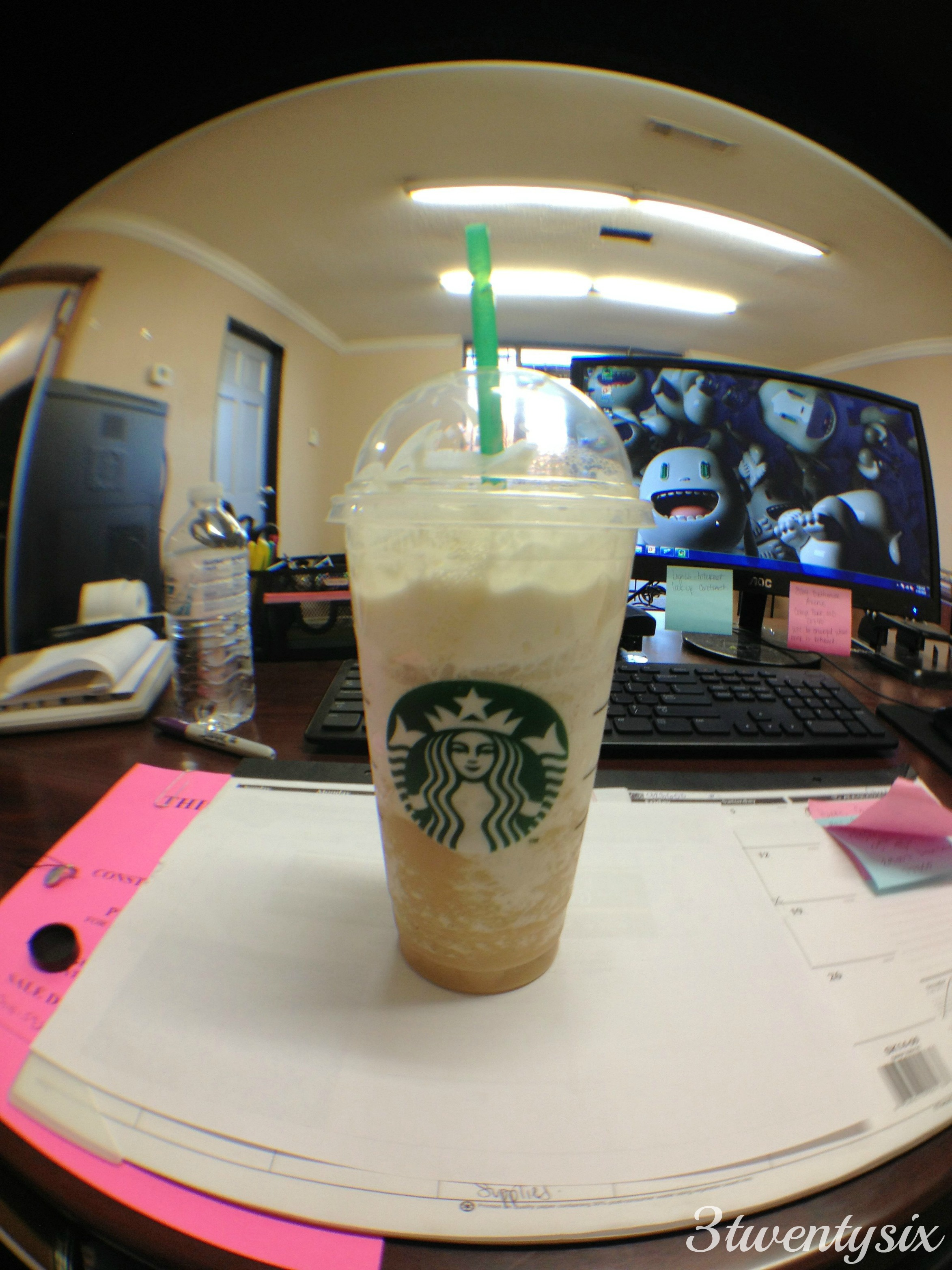 Vanilla Frapp from Starbucks saved me today.